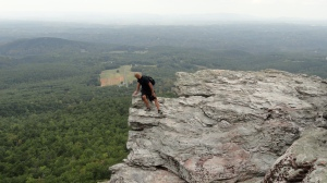 At the top of Hanging Rock, 30 minutes from Madison.